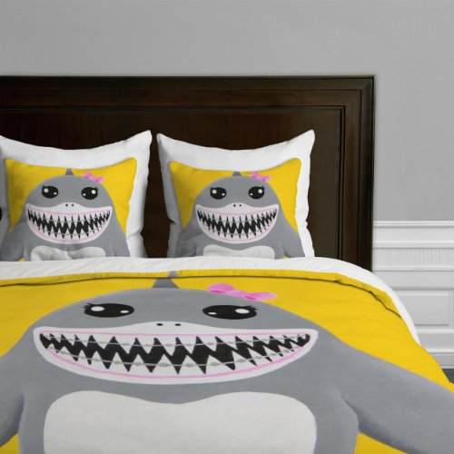 DENY Designs Mandy Hazell Shark Tooth Sally Duvet Cover, Twin