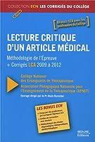 Lecture critique d'un article médical : Méthodologie de l'épreuve