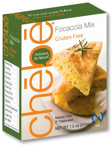 Chebe Bread Focaccia Flat Bread  Mix, 7.5-Ounce Bags (Pack of 8)