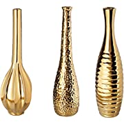 Aspire Tianna Vases (Set of 3), Gold