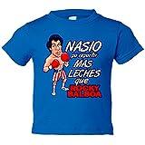 Camiseta niño Rocky Balboa nacido para - Azul Royal, 5-6 años