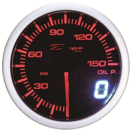 Depo Racing Gauge : Mm depo racing red white led digital oil pressure gauge