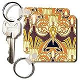 kc_11217 TNMGraphics Art Deco Plus - Vintage Orange Design - Key Chains