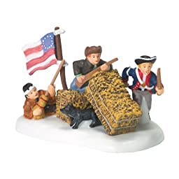 Dept 56 Accessories Little Patriots At Play New England Usa Flag Dog - Porcelain 2.25 IN