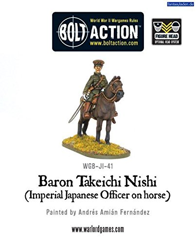 Baron Nishi Imperial Japanese Officer On Horse Miniature