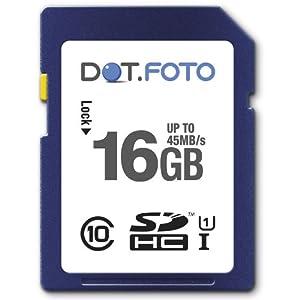 Dot.Foto Extreme SDHC 16Gb Class 10 UHS-1 (bis 45MB/s Lesen) Speicherkarte für Panasonic HM/HX Camcorder Modelle [Siehe Beschreibung für die Kompatibilität]