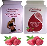 Raspberry Ketone Extreme Fat Burner Plus Detox Colon Cleanse Package As seen on TV, Manufactured in the UK (1 Month Supply)