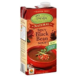 Pacific Natural Foods Soup, Spicy Black Bean, 32-Ounce Cartons (Pack of 12)