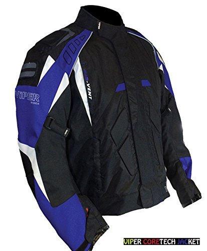 Giacche Impermeabili: Tessuto Tessile CE ARMOUR VIPER CORETECH Giacca Moto Impermeabile, Giacche Sportive, Giacca da Corsa, Blu (XL)
