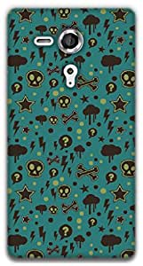 The Racoon Grip Curiosity hard plastic printed back case / cover for Sony Xperia SP