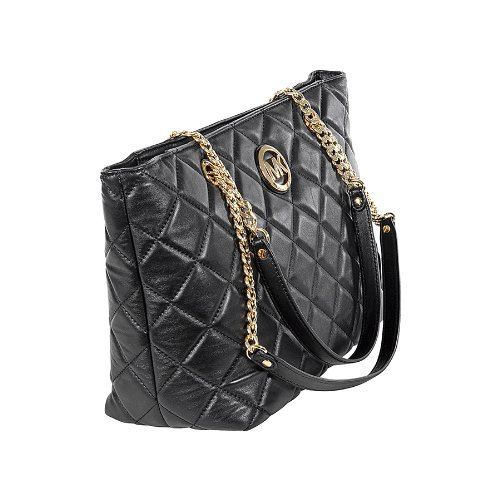 MICHAEL Michael Kors Michael Kors Fulton Large Quilted Tote in Black