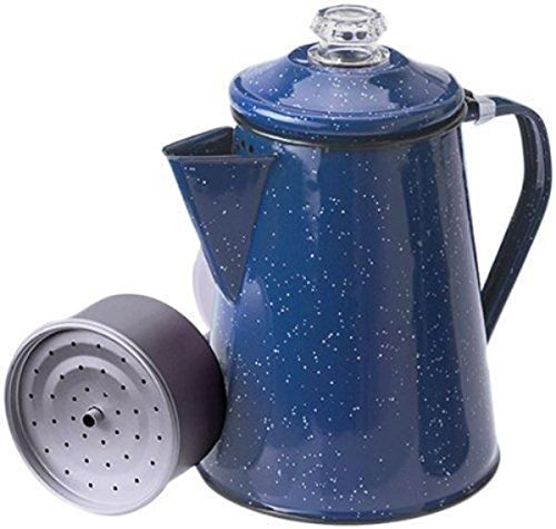 GSI Outdoors Enamelware Percolator Blue 8 Cup New (Stovetop Percolator Made In Usa compare prices)