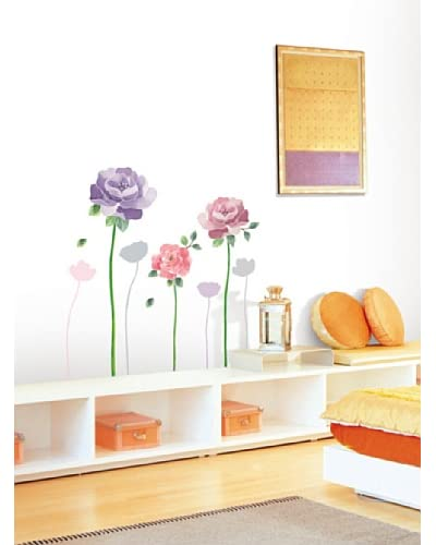 Ambiance Live Vinilo Adhesivo Rose Flowers Multicolor