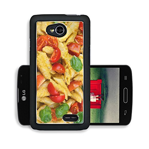 Liili Premium LG Optimus L70 Dual Aluminum Case Home made tomato pasta on plate with fresh basil leaves wooden background Image ID 23430356 (Rabbit Pasta compare prices)