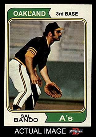 Amazon.com: 1974 Topps # 103 Sal Bando Oakland Athletics (Baseball