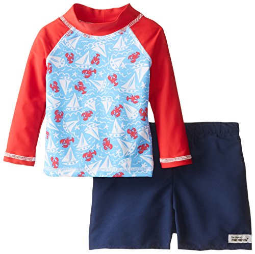 Flap happy baby boys 39 rash guard swim long sleeve top and for Baby rash guard shirt