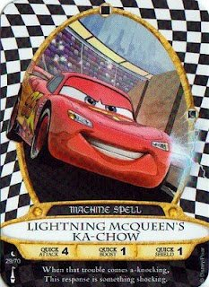 Sorcerers Mask of the Magic Kingdom Game, Walt Disney World - Card #29 - Lightning McQueen's Ka-Chow