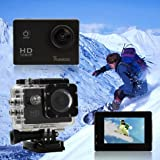 Sunco� DREAM 2 Action Video Full HD 1080p 12MP Waterproof Sports Camera With 1.5 -inch High Definition Screen (Black)