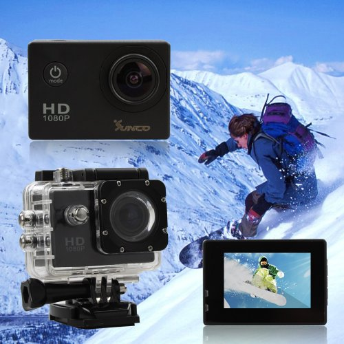 Sunco® DREAM 2 Action Video Full HD 1080p 12MP Waterproof Sports Camera With 1.5 -inch High Definition Screen (Black) picture