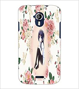 PrintDhaba Cute Girl D-5416 Back Case Cover for MICROMAX A116 CANVAS HD (Multi-Coloured)