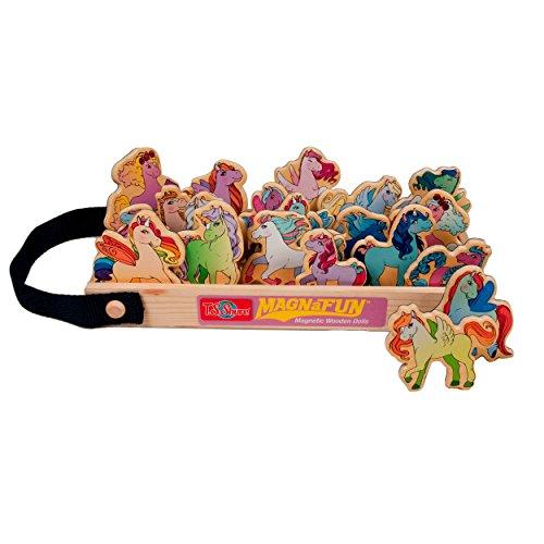 T.S. Shure Unicorns & Ponies Wooden Magnets 20 Piece MagnaFun Set - 1