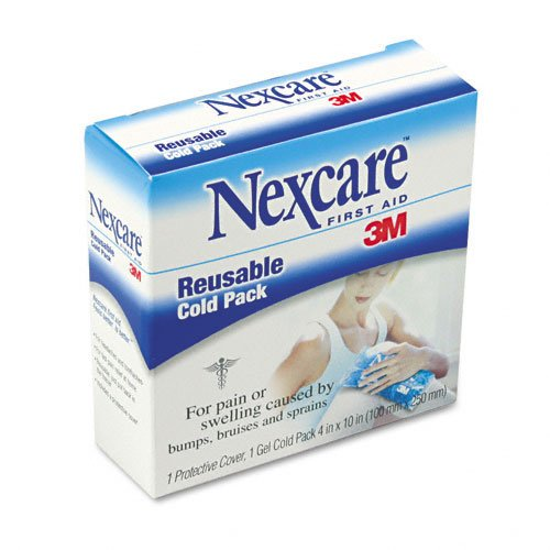 3M Nexcare Products - 3M Nexcare - Nexcare Reusable Cold Pack, 4 x 10, 1/Box - Sold As 1 Each - Provides relief from pain or swelling due to bumps, bruises or sprains. - Soft gel-filled pillow has a protective cover. - Chills in freezer to an ice-cold tem