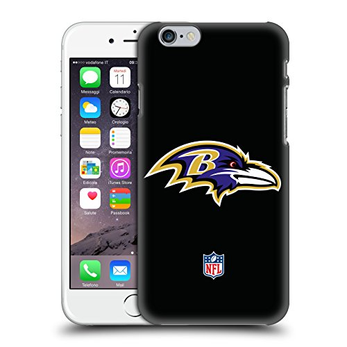 Ufficiale NFL Semplice Baltimore Ravens Logo Cover Retro Rigida per Apple iPhone 6 / 6s