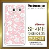 SH-04Eケース SH-04Eカバー SH-04E専用ケース TPUケース/AQUOS PHONE EX SH-04E /1005_バラ宝石模様(花_カワイイ)
