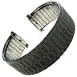 16-21mm Speidel Wide Black PVD Stainless Steel Twist-O-Flex Watch Band 1366/22L