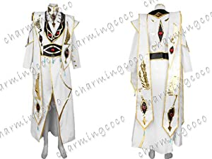 Code Geass Lelouch of the Rebellion Emperor Cosplay Costume Outfit (Female XS)