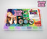 Loom Bands -Trendy Loom Bands Making Kit - Deluxe Loom Bands Kit Contains 2200 Rubber Bands - Fun Arts And Crafts Projects For Girls - Make Bracelets Rings Necklace Jewelry - Glow In The Dark And Glitter Bands - Hours Of Creative Fun - Order Now - 100% Money Back Guarantee