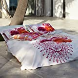 Essenza Satinbettwäsche Malibu pink 140×200 cm + 70×90 cm