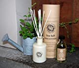 St Eval Scented Reed Diffuser - SEA SALT - Brand New Diffuser In Buff Drum Gift Box with Cream Ceramic Bottle, Diffuser Liquid & Reeds.