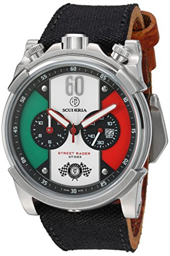 CT-Scuderia-Mens-CS10142-Street-Racer-Analog-Display-Swiss-Quartz-Black-Watch