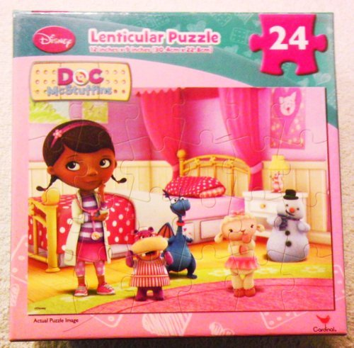 Doc McStuffins Lenticular Puzzle [24 Pieces] Doc with 4 Friends By the Bed