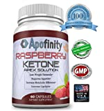 Pure Raspberry Ketones, 500mg Dr Oz Recommended, 100% Natural Weight Loss Supplement, Plus, Max Results to Burn Fat and Get Lean, Premium Raspberry Ketone Select By Apofinity (60 Count Bottle)