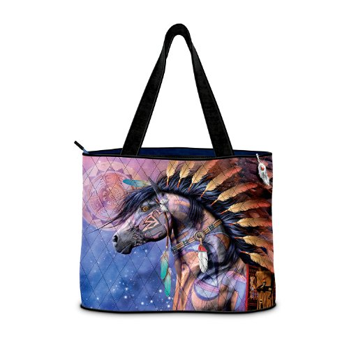 Spirit Of The Painted Pony Tote Bag By The Bradford Exchange