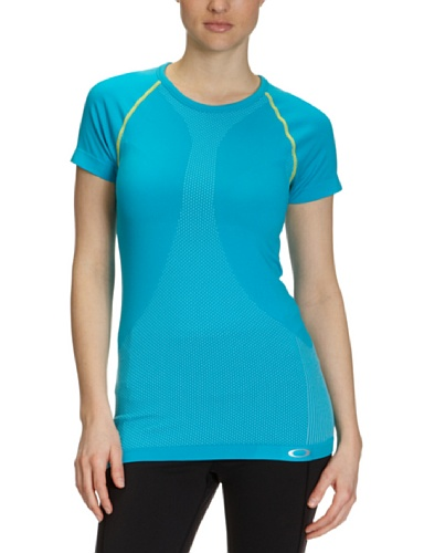 Oakley Continuity Top – Short Sleeve – Women's Bright Aqua, L