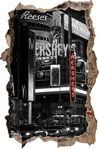gigante-hershey-a-new-york-in-bianco-nero-svolta-muro-in-look-3d-parete-o-in-formato-adesivo-porta-6