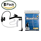 Pack of 2 Maximal Power RHF 617-1N 3.5mm Surveillance Plug Receiver/Listen Only Audio Earpiece for 2-Way Radio Transceivers and Radio Speaker Mics