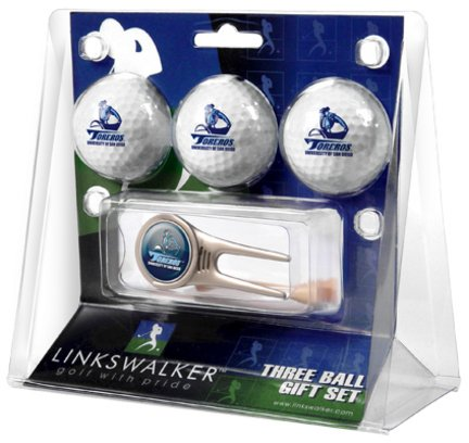 San Diego Toreros 3 Golf Ball Gift Pack with Cap Tool