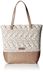 Caprese Elsa Women's Tote Bag (Off-White and Taupe)