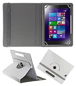 Acm Rotating 360° Leather Flip Case For Lenovo Mix 3-830 Cover Stand White