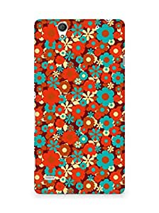 Amez designer printed 3d premium high quality back case cover for Sony Xperia C4 (Color background surface patterns bright)