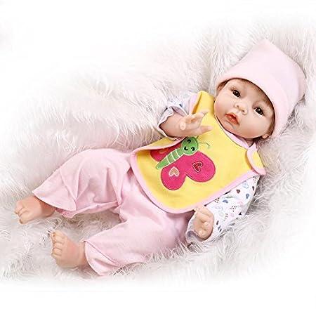 NPK Collection Reborn Baby Doll silicone 22inch 55cm importations de mignon réaliste magnétique de cadeaux de et de simulation de renaissance poupée Jolie poupée classique de la salive de la serviette