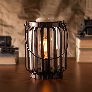 Edison Scout Electric Scented Candle Wax Warmer - One of Our Rustic Candles Holders to Bring Rich Fragrance to Your Home - One of Best Office Decor Products to be Desk or Table Lamp