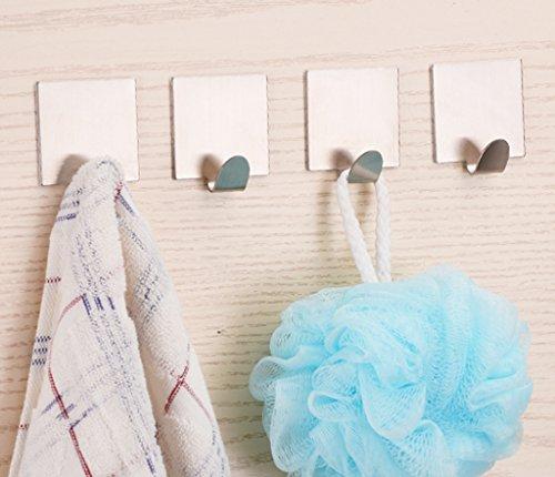 Sumnacon 4 pcs stainless steel bath hook bathroom towel for Bathroom design 3m x 3m