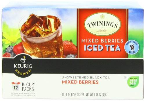 Twinings Iced Tea K Cups, Mixed Berries, 12 Count