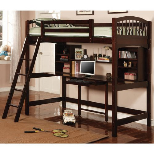 Kids Loft Beds With Desk 4535 front