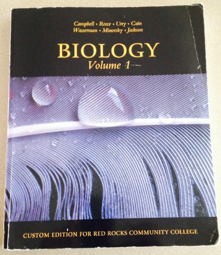 Biology Volume 1 (Custom Edition for Red Rock Community College)